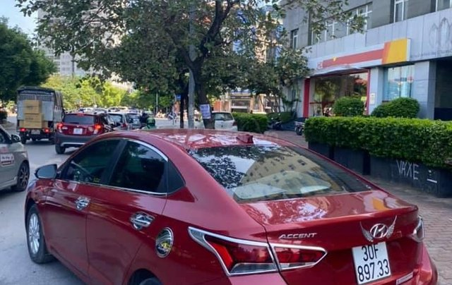 Bán xe Hyundai Accent AT sản xuất 2019, màu đỏ0