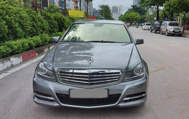 Gia đình bán xe Mercedes C250 đời 2013, màu xám0