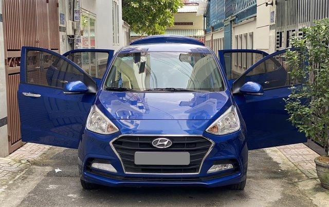 Cần bán xe Hyundai Grand i10 năm sản xuất 2019, màu xanh lam còn mới, 358 triệu9