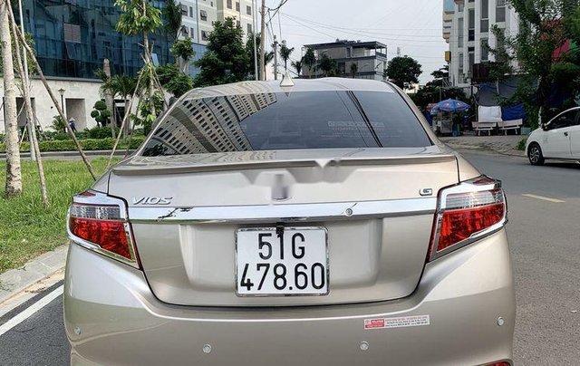 Bán Toyota Vios đời 2017, màu vàng cát, xe nhập1