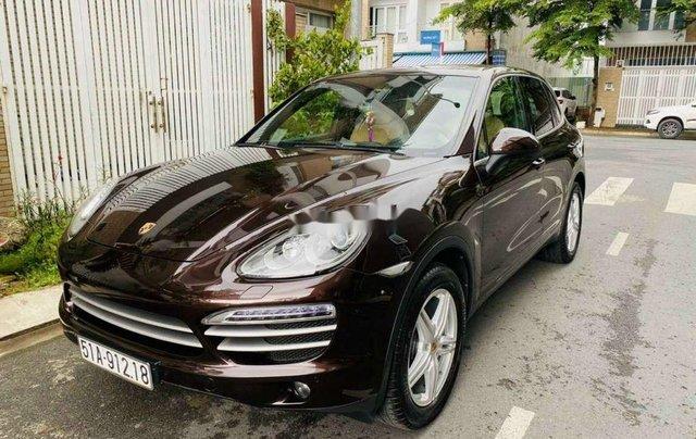 Cần bán xe Porsche Cayenne đời 2014, màu nâu, xe nhập chính chủ0