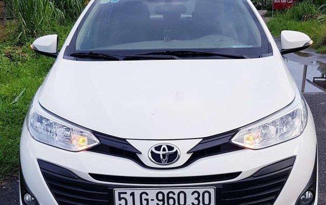 Bán Toyota Vios E 2019, màu trắng, giá chỉ 475 triệu0