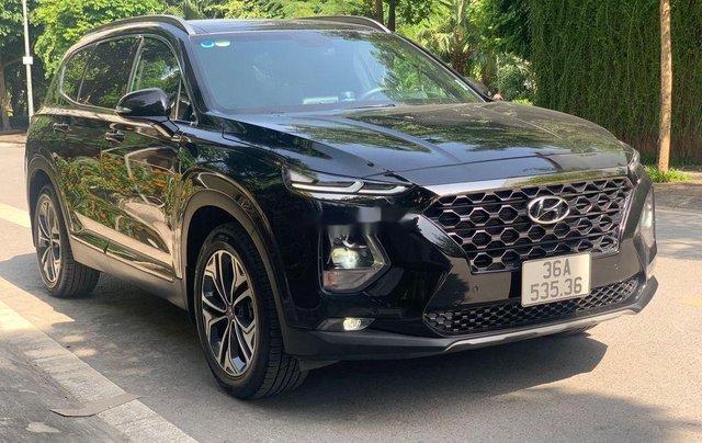 Cần bán lại xe Hyundai Santa Fe 2.4 Preminium đời 2020, màu đen  1