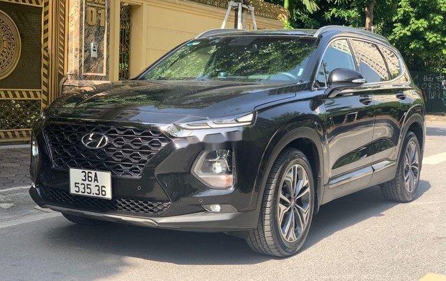 Cần bán lại xe Hyundai Santa Fe 2.4 Preminium đời 2020, màu đen  0