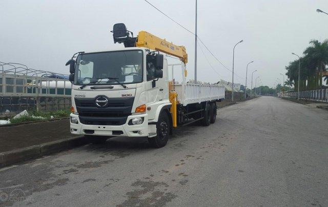 Xe tải gắn cẩu 8 tấn Hino FM0
