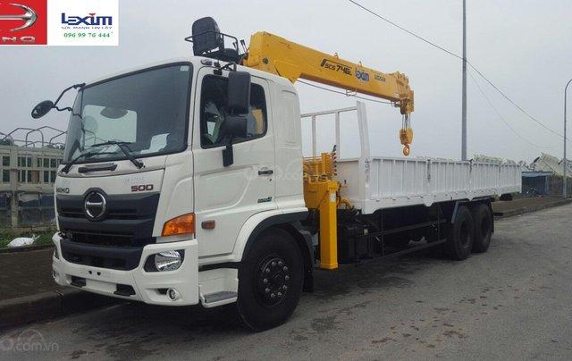 Xe tải gắn cẩu 8 tấn Hino FM1