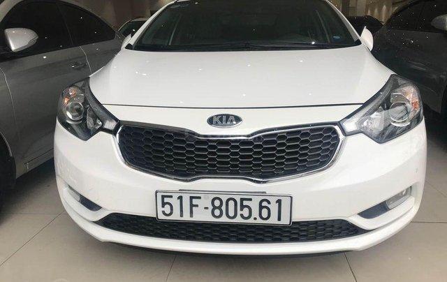 Kia K3 sản xuất 2016, màu trắng, có cửa sổ trời0