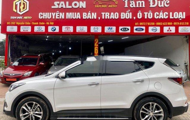 Bán Hyundai Santa Fe năm sản xuất 2018, màu trắng, giá tốt1