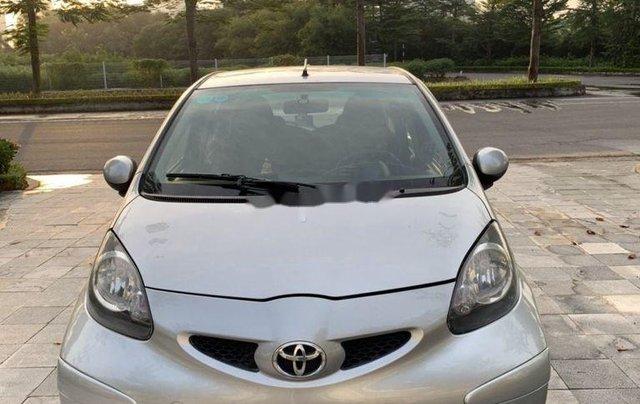 Bán Toyota Aygo sản xuất 2008, màu bạc, nhập khẩu nguyên chiếc, số sàn5