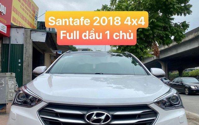 Bán Hyundai Santa Fe năm sản xuất 2018, màu trắng, giá tốt0