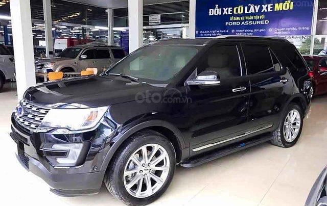 Bán Ford Explorer năm sản xuất 2017, màu đen, xe nhập0