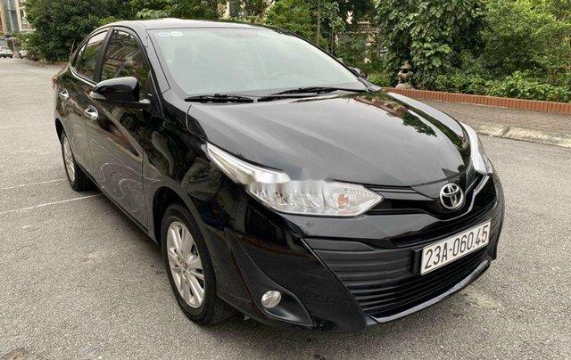 Bán Toyota Vios 1.5E CVT đời 2019, màu đen số tự động, giá 495tr2