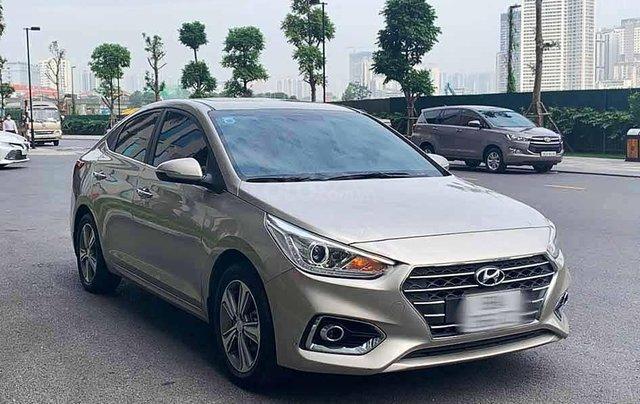 Bán Hyundai Accent sản xuất 2020, màu vàng còn mới0