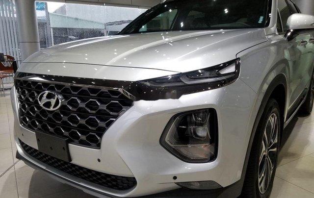 Bán Hyundai Santa Fe sản xuất 2019, màu bạc1
