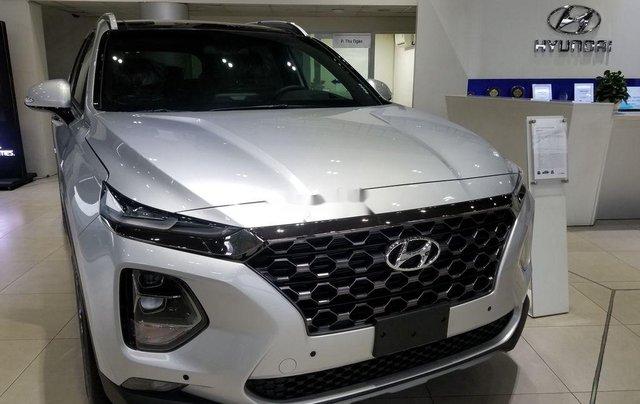 Bán Hyundai Santa Fe sản xuất 2019, màu bạc2