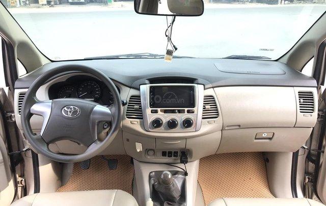 Toyota Innova 2.0E đời cuối 2014 form mới, 1 chủ mua đi từ mới, số tay, màu nâu vàng, xe chất lượng cao4