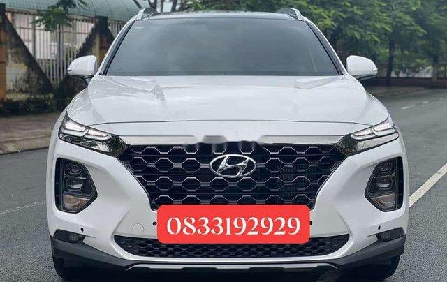 Cần bán gấp Hyundai Santa Fe 2020, màu trắng số tự động0
