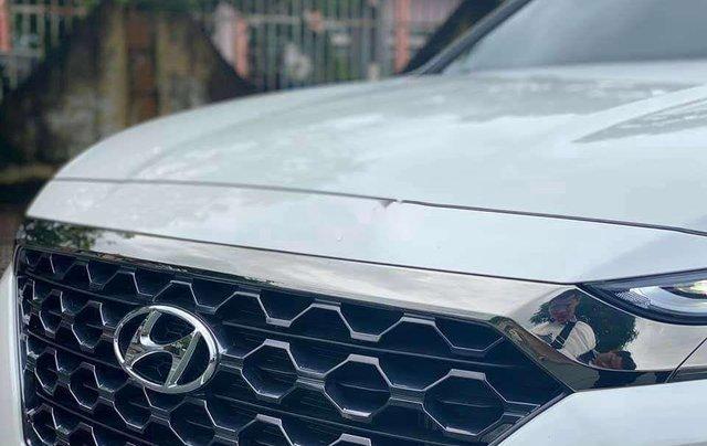 Cần bán gấp Hyundai Santa Fe 2020, màu trắng số tự động5