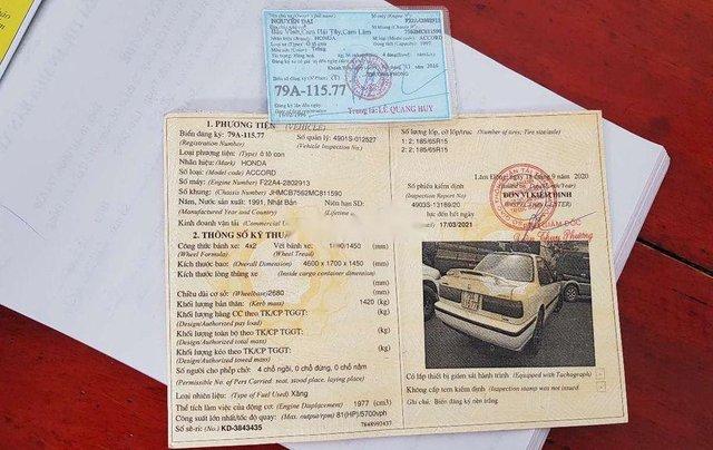 Bán xe Honda Accord đời 1991, màu trắng, xe nhập số sàn, 73tr11