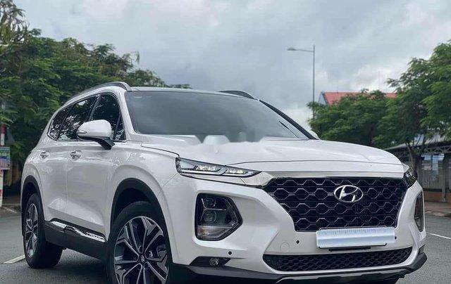 Cần bán gấp Hyundai Santa Fe 2020, màu trắng số tự động1