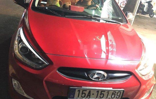 Bán xe Hyundai Accent sản xuất 2014, màu đỏ, 410 triệu2