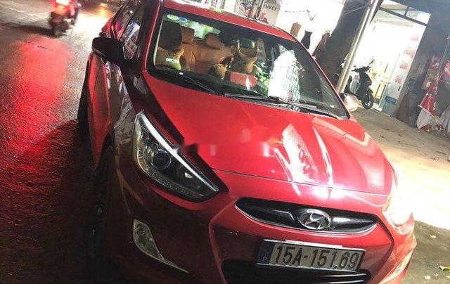 Bán xe Hyundai Accent sản xuất 2014, màu đỏ, 410 triệu3