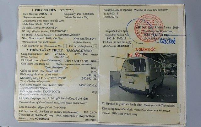Công ty bán thanh lý xe Suzuki tải Van 550kg màu trắng2