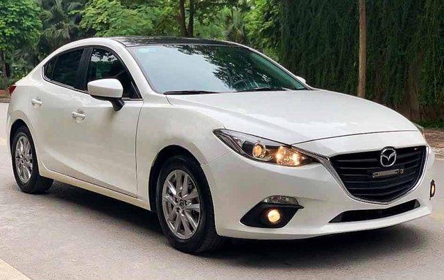Bán Mazda 3 năm sản xuất 2017, màu trắng, giá tốt0