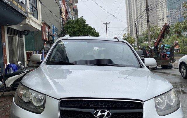 Bán Hyundai Santa Fe sản xuất năm 2007, màu bạc, xe nhập số tự động0