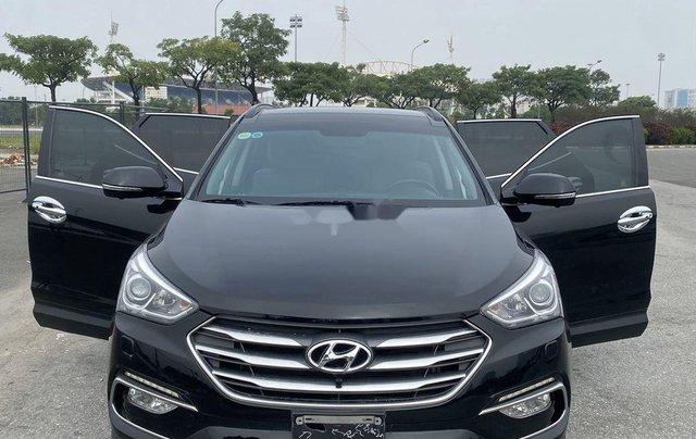 Bán Hyundai Santa Fe sản xuất năm 2017, màu đen, 865 triệu6