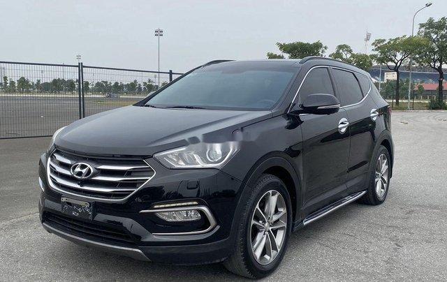 Bán Hyundai Santa Fe sản xuất năm 2017, màu đen, 865 triệu2