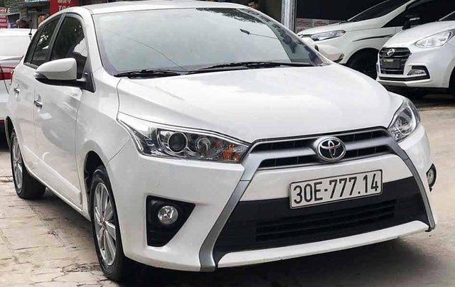 Bán Toyota Yaris 2017, màu trắng, xe nhập còn mới0
