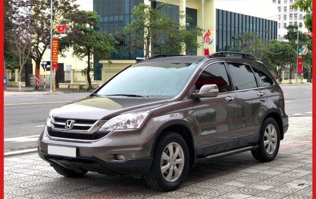 Bán Honda CR-V phiên bản 2.4L sản xuất và đăng ký cuối cùng năm 2012, màu nâu0