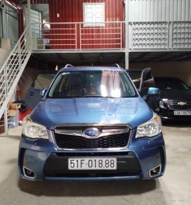 Cần bán xe Subaru Forester sản xuất 2014, màu xanh lam còn mới, giá tốt0