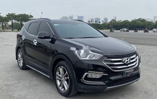 Bán Hyundai Santa Fe sản xuất năm 2017, màu đen, 865 triệu1