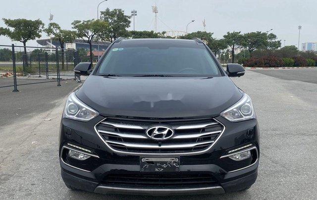 Bán Hyundai Santa Fe sản xuất năm 2017, màu đen, 865 triệu0