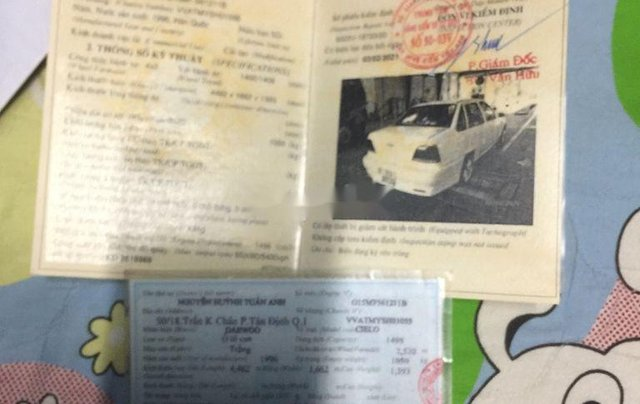 Cần bán lại xe Daewoo Cielo đời 1996, màu trắng7