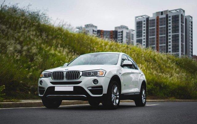 Bán xe BMW X4 màu trắng sản xuất 2014, nội thất kem1