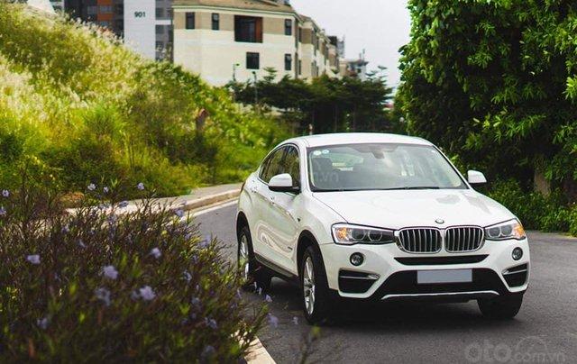 Bán xe BMW X4 màu trắng sản xuất 2014, nội thất kem4