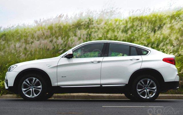 Bán xe BMW X4 màu trắng sản xuất 2014, nội thất kem2