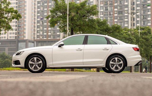 Bán Audi A4 40 TFSI model 2021 máy 2.0L Turbo, siêu lướt, xe màu trắng, nội thất nâu da bò sang trọng và đẳng cấp1