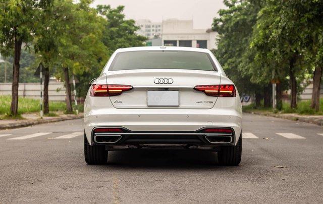 Bán Audi A4 40 TFSI model 2021 máy 2.0L Turbo, siêu lướt, xe màu trắng, nội thất nâu da bò sang trọng và đẳng cấp2