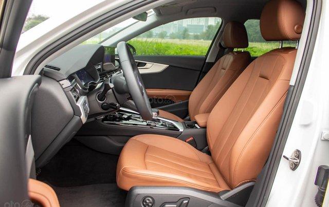 Bán Audi A4 40 TFSI model 2021 máy 2.0L Turbo, siêu lướt, xe màu trắng, nội thất nâu da bò sang trọng và đẳng cấp7