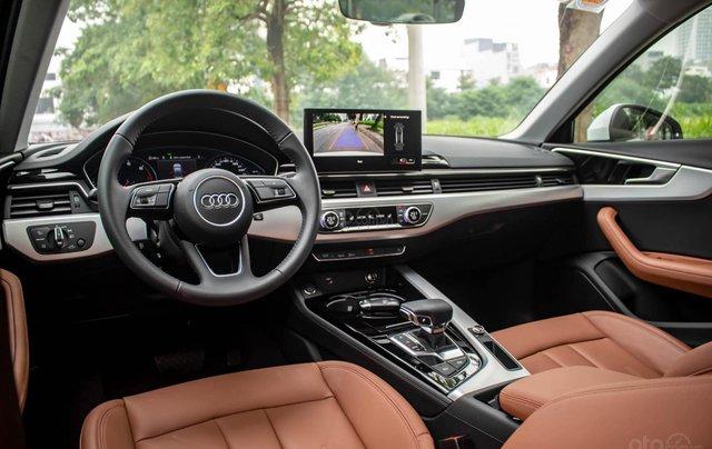 Bán Audi A4 40 TFSI model 2021 máy 2.0L Turbo, siêu lướt, xe màu trắng, nội thất nâu da bò sang trọng và đẳng cấp8