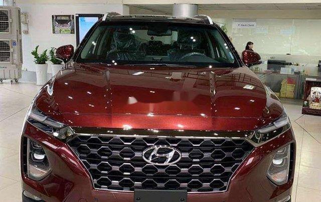Hyundai Bình Dương cần bán Hyundai Santa Fe năm sản xuất 2020, màu đỏ0