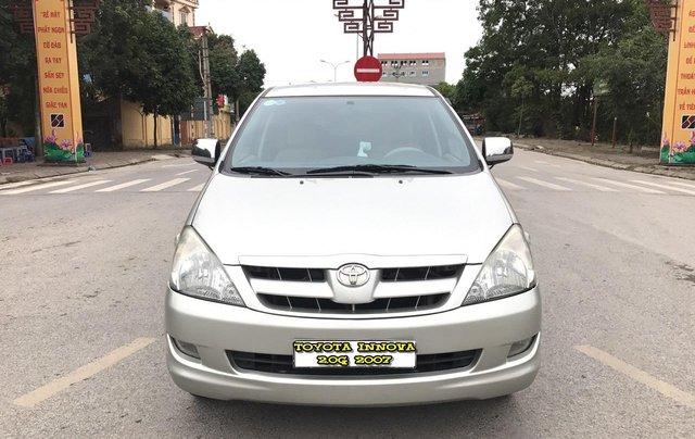 Toyota Innova 2.0G năm 2007, màu bạc, không thể kiếm con mới hơn chất lượng hơn, mới nhất Việt Nam là có thật0