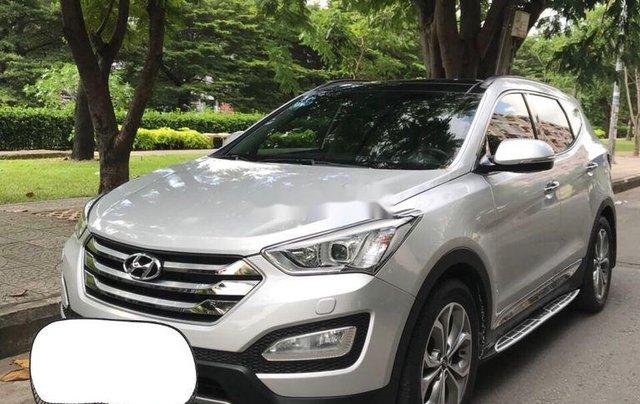 Bán lại xe Hyundai Santa Fe 2015, màu bạc, full dầu 2 cầu3
