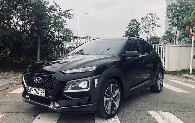Cần bán lại xe Hyundai Kona năm 2019, màu đen như mới0