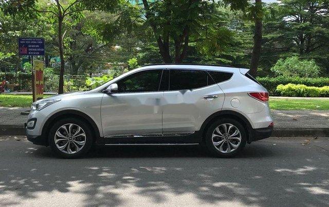 Bán lại xe Hyundai Santa Fe 2015, màu bạc, full dầu 2 cầu0