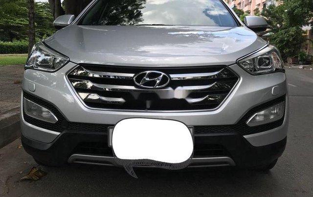 Bán lại xe Hyundai Santa Fe 2015, màu bạc, full dầu 2 cầu1